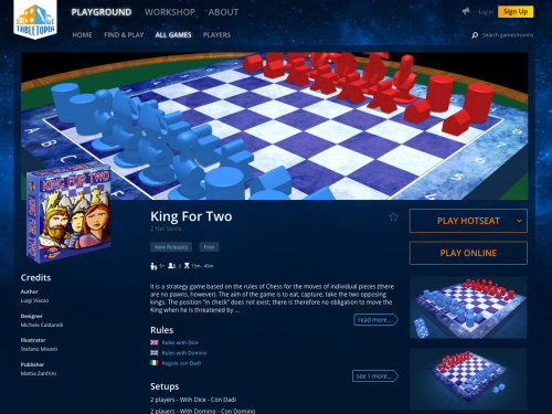 King for Two su Tabletopia